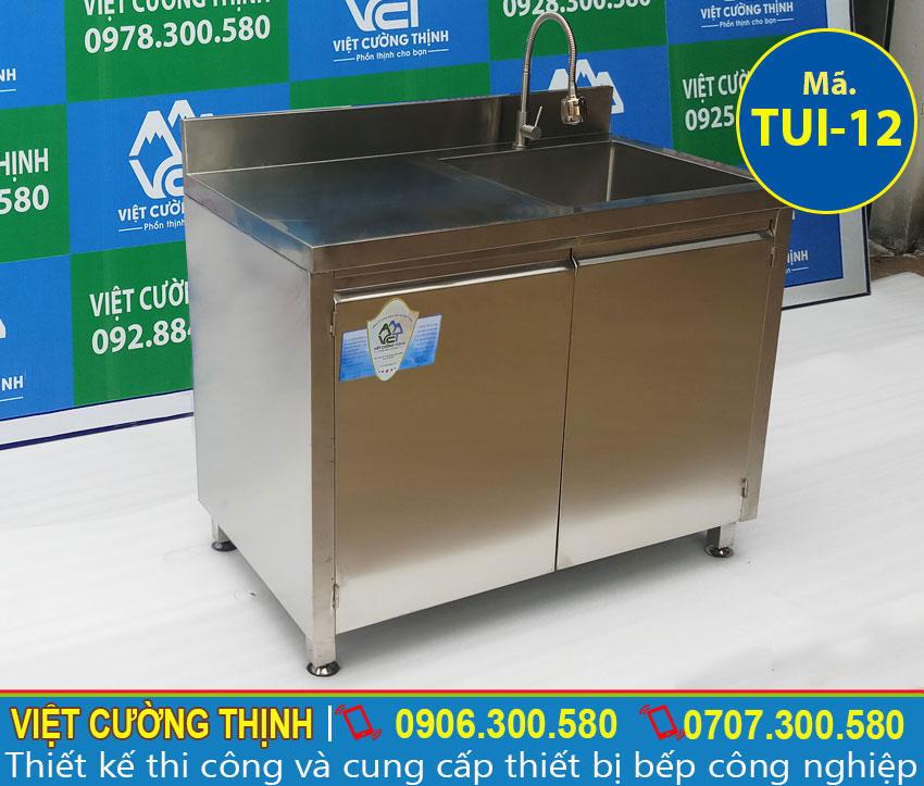 Báo giá tủ bếp inox có bồn rửa chén inox chính hãng tại Việt Cường Thịnh.