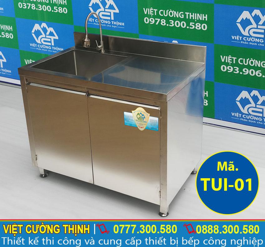 tủ chén inox có bồn rửa TUI-01