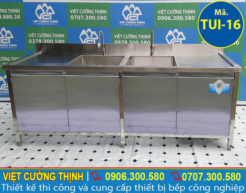 Mẫu tủ đựng chén bát, tủ đựng đồ dùng inox sản xuất Inox Việt Cường Thịnh.