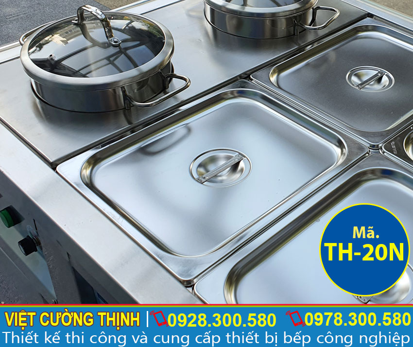 Khay giữ nhiệt vồi bộ xoong nồi giúp chứa nguyên liệu an toàn và đảm bảo chất lượng.