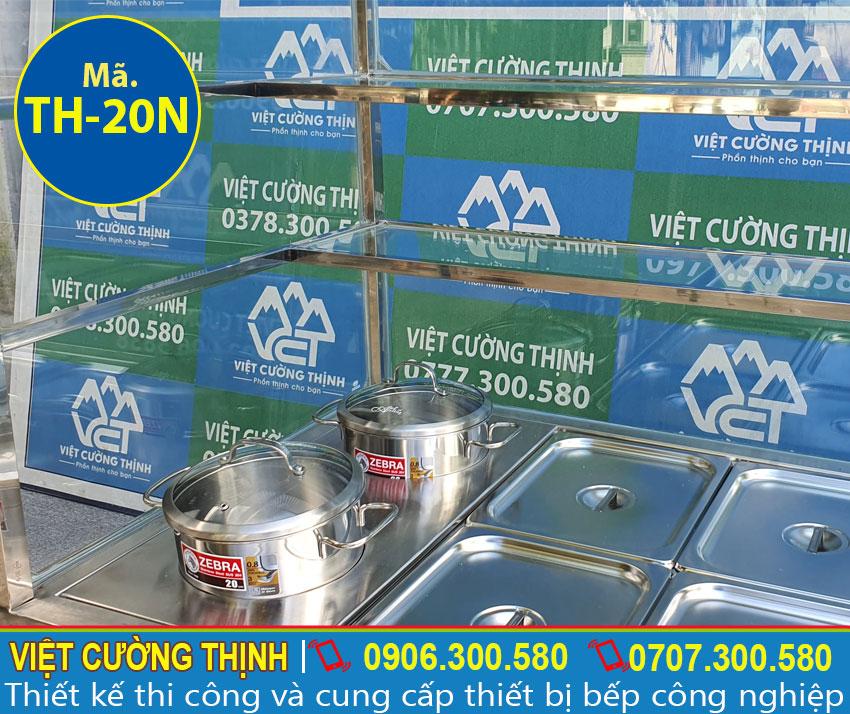 Chi tiết các khung kệ inox tủ hâm nóng thức ăn.