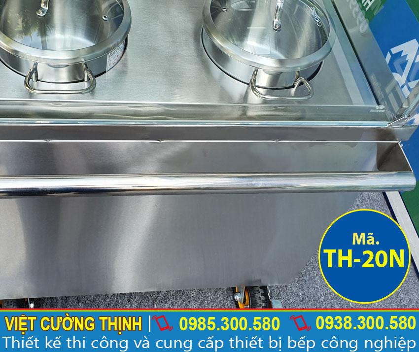 Mẫu quầy tủ giữ nóng thức ăn có thiết kế tay cầm sang trọng.