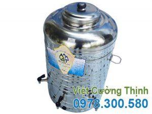 Bình Đựng Nước Inox 100L 1 Lớp Inox 304 Không Cách Nhiệt, Có 3 Vòi Gạt